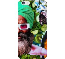 Man and a parrot in a green salad iPhone Case/Skin
