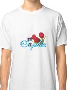 Sophia with Red Tulips Classic T-Shirt