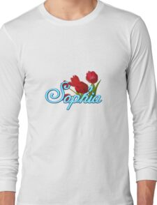 Sophia with Red Tulips Long Sleeve T-Shirt