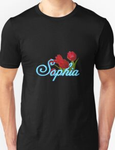 Sophia with Red Tulips T-Shirt