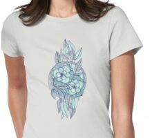 Teal Magnolias – a hand drawn pattern  Womens Fitted T-Shirt