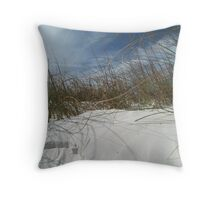 Sand, Wind and Reeds - Clearwater Beach, Florida Throw Pillow