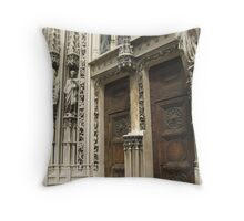 Between Saints and Empty Pedestals - Lausanne, CH Throw Pillow