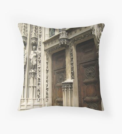 Between Saints and Empty Pedestals - Lausanne, CH Throw Pillow