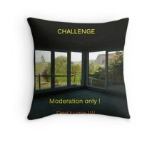 For challenge moderation Throw Pillow