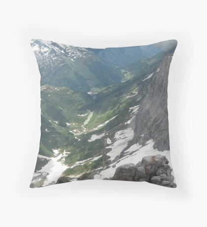 Down, Down in the Valley - Switzerland Throw Pillow