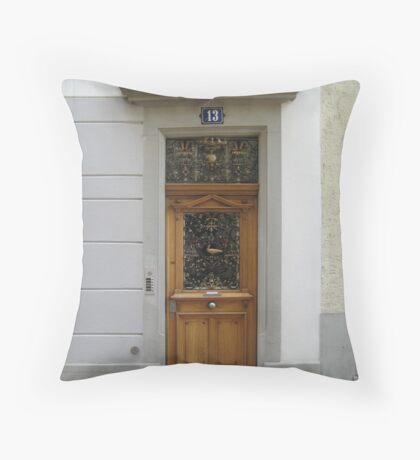 A Door in Zurich Throw Pillow