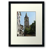 Two Kirches - Zurich, Switzerland Framed Print