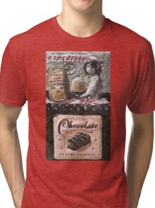 Chocolat   My Creations Artistic Sculpture Relief fact Main 53  (c)(h) by Olao-Olavia / Tri-blend T-Shirt