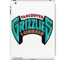 Vancouver Grizzlies Logo iPad Case/Skin