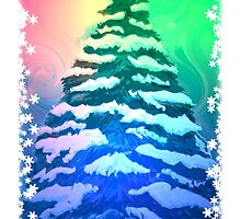 Snowy Christmas Tree by Caites