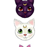 Sailor Moon cats down by isilygoodart