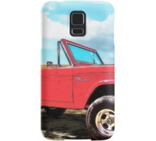 Surf Bronco Beyond the 4 Wheel Drive Only Sign Padre Island Samsung Galaxy Case/Skin