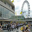 Sunday afternoon in summer on the North Terrace, the Royal Festival Hall, London, England by Philip Mitchell