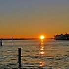 Edmonds Ferry Sunset by monteropix