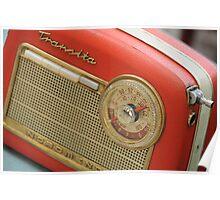 Old Transistor Radio Poster