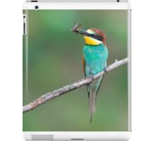 European bee-eater with insect prey iPad Case/Skin