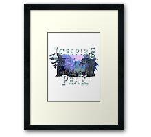 Neverwinter - Icespire Peak Framed Print