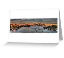 Threatened -Berry's Bay, Sydney Harbour (30 Exposure HDR PANORAMIC) - The HDR Experience Greeting Card