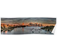 Threatened -Berry's Bay, Sydney Harbour (30 Exposure HDR PANORAMIC) - The HDR Experience Poster