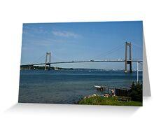 Bridges in Denmark - Little Belt Bridge Greeting Card
