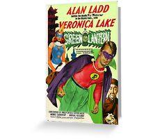Alan Ladd as Green Lantern Movie Poster Greeting Card
