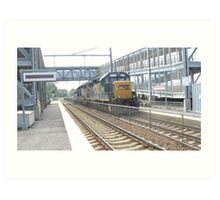 6230 Double engine Freight Train Art Print