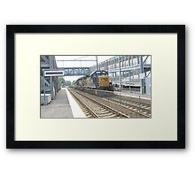 6230 Double engine Freight Train Framed Print