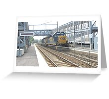 6230 Double engine Freight Train Greeting Card