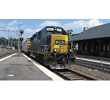6221 Single engine with 2 Freight Cars Photographic Print