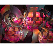 Shining balls Photographic Print