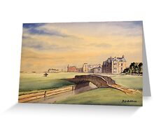 St Andrews Golf Course Scotland Greeting Card
