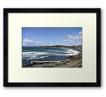 Whitecaps on the Beach Framed Print