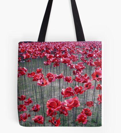 Poppies At The Tower Of London Tote Bag