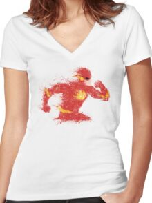 Speed Women's Fitted V-Neck T-Shirt