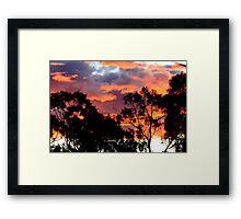 """Fire in the Sky"" Framed Print"
