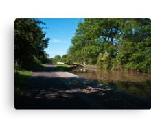 Canal Lock Canvas Print