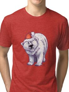 Polar Bear Christmas Tri-blend T-Shirt