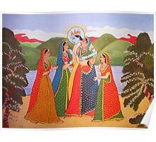 Radha Krishna with Gopiya Poster
