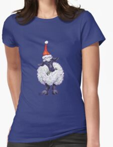 Sheep Christmas Womens Fitted T-Shirt