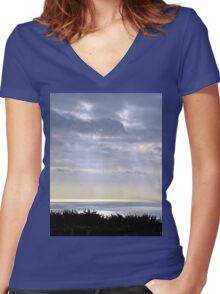 Rays............ Women's Fitted V-Neck T-Shirt