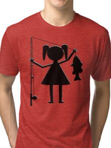 REEL GIRL Tri-blend T-Shirt