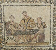 Gaming - Roman mosaic in Tunisia by Kiriel