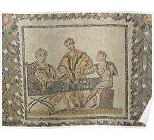 Gaming - Roman mosaic in Tunisia Poster