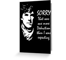 One More Deduction Greeting Card