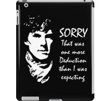 One More Deduction iPad Case/Skin