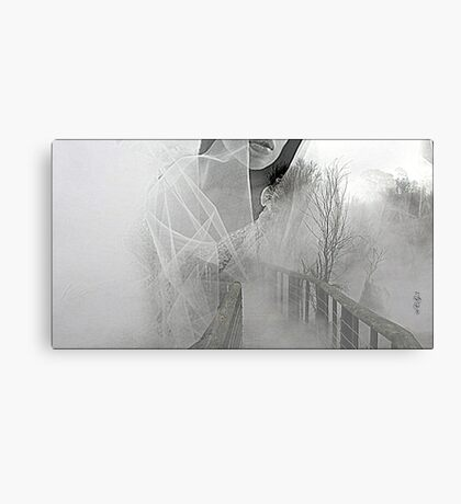 dreamy, white, flowing, beautiful  Canvas Print