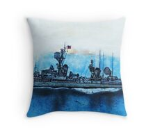 Finished work USS Ernest G Small DDR 838 Vietnam Throw Pillow
