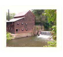 Pine Creek Grist Mill at Wildcat Den Art Print