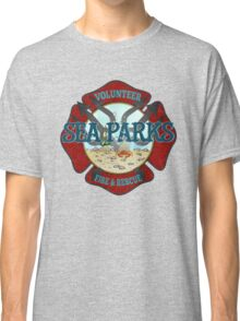 IT Crowd Inspired - Fire at Sea Parks - Sea Parks Volunteer Fire & Rescue - British Comedy Quotes Classic T-Shirt